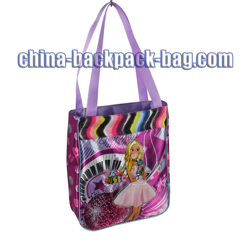 Music Girl Print Kids Handbags, ST-15LM08HB