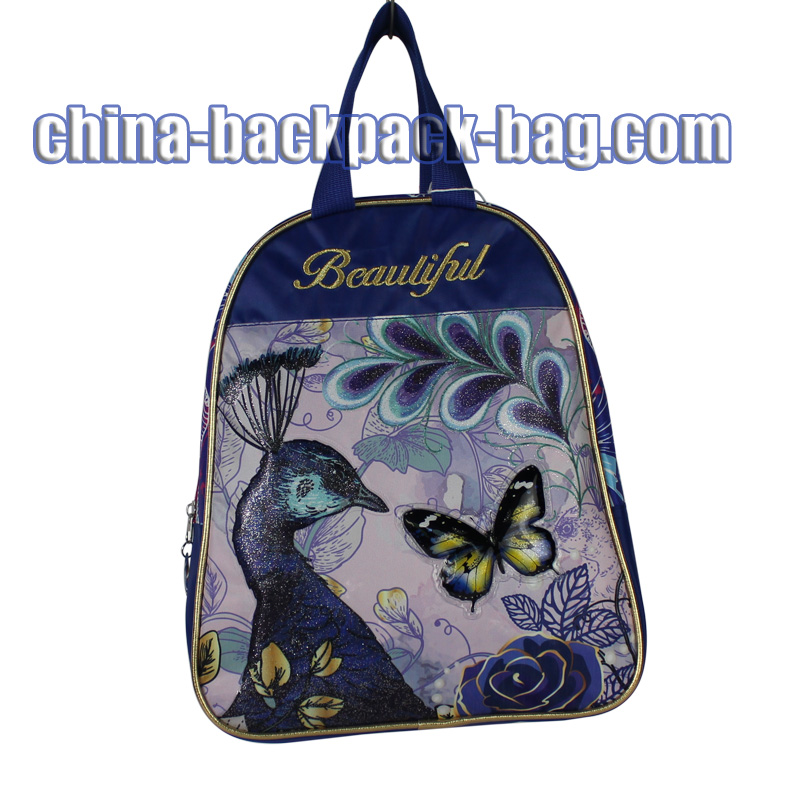 Peacock Print Kids Handbags, ST-15BF10HB