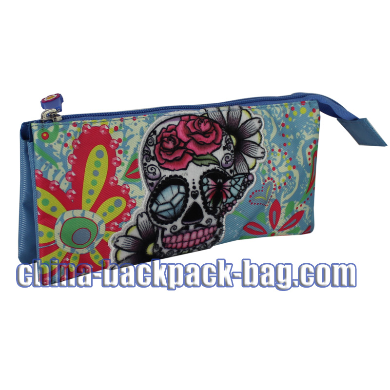 Blue Skull Kids Pencil Case, ST-15JH11PC